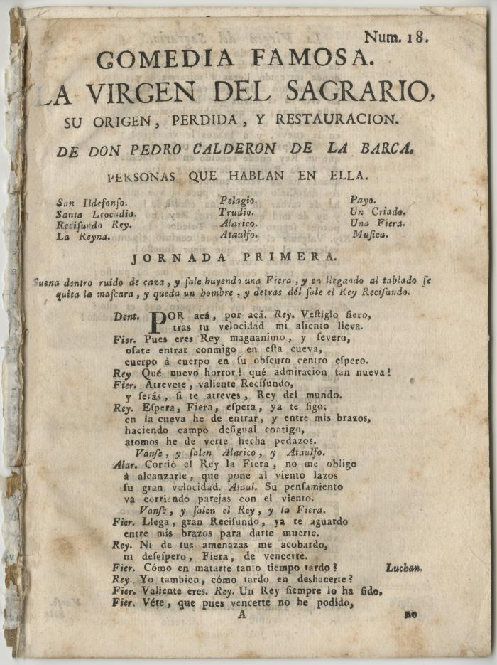 Queens College. Virgen del Sagrario, t.p.