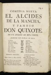 El alcides de la Mancha, y famoso Don Quixote : /