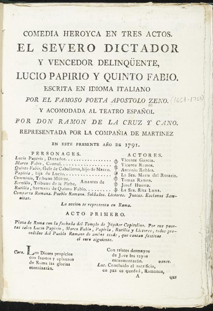 El severo dictador y vencedor delinqüente, Lucio Papirio y Quinto Fabio /